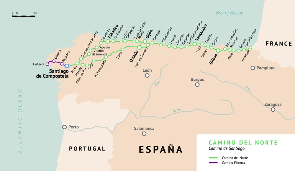 Camino de Norte на карте